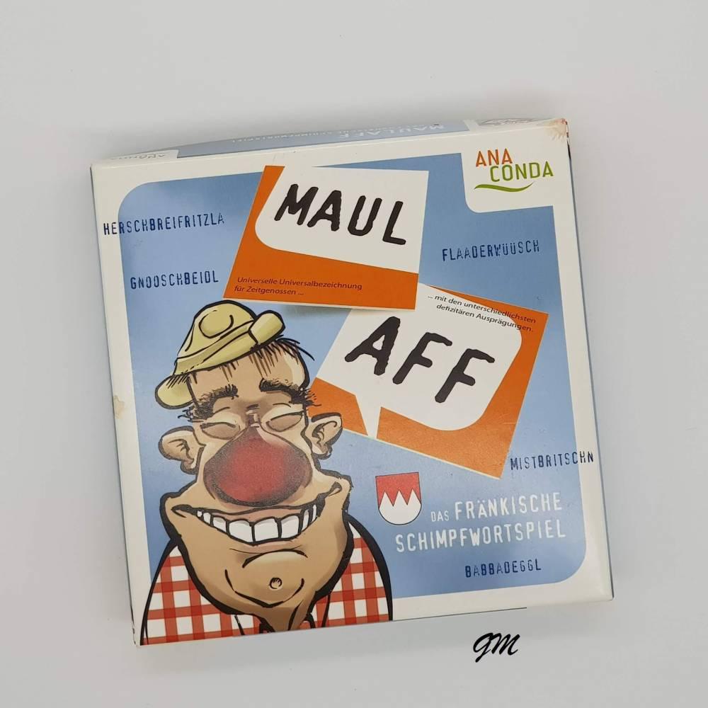 vintage, Kartenspiel, Spiele,  Maulaff - Das fränkische Schimpfwortspiel nach dem Memo-Prinzip,  Bild 1