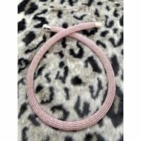 Doppelt drahtgestrickte Schlauchkette, rosegold  Bild 1
