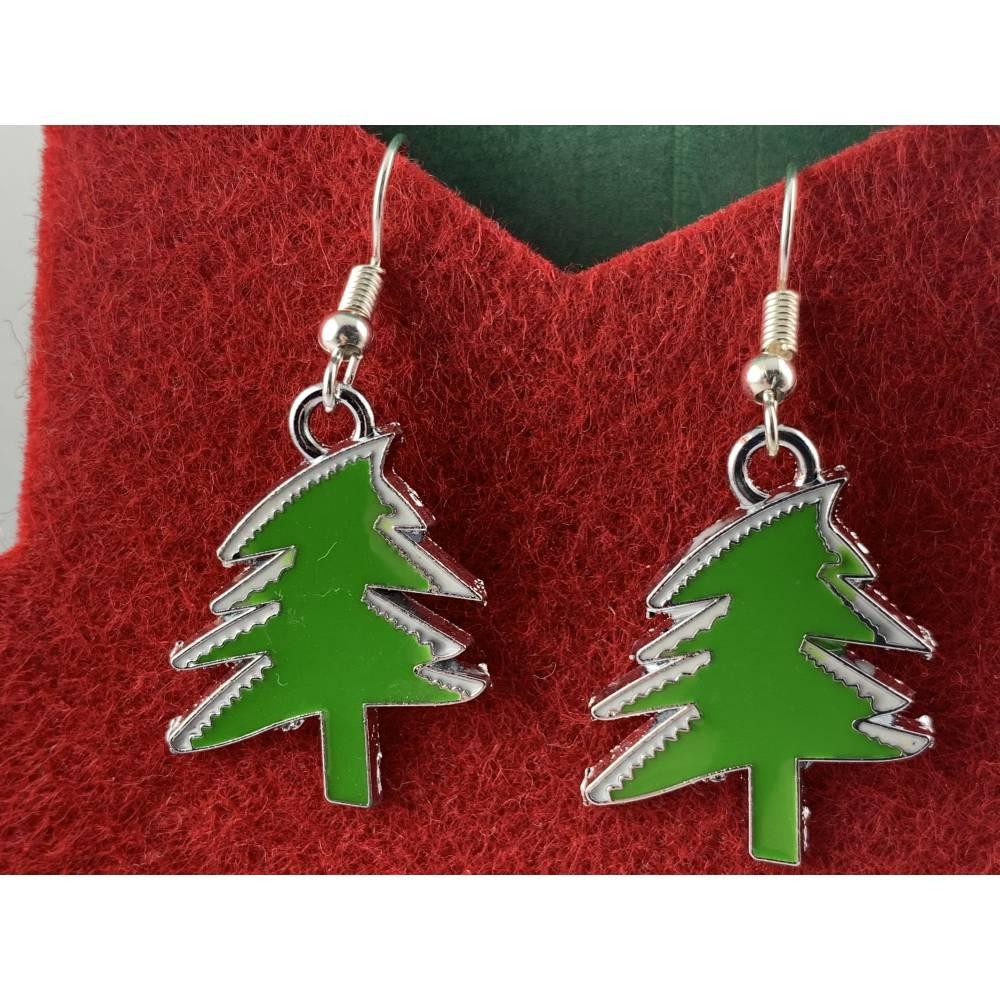 Weihnachts Ohrringe Weihnachtsbaum Tannenbaum Brisur Weihnachtsgeschenk Neu