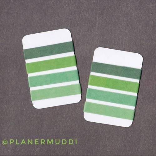 4 Washi-Samples, einfarbig