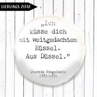 Zitat Joachim Ringelnatz Button oder Magnet  Bild 1