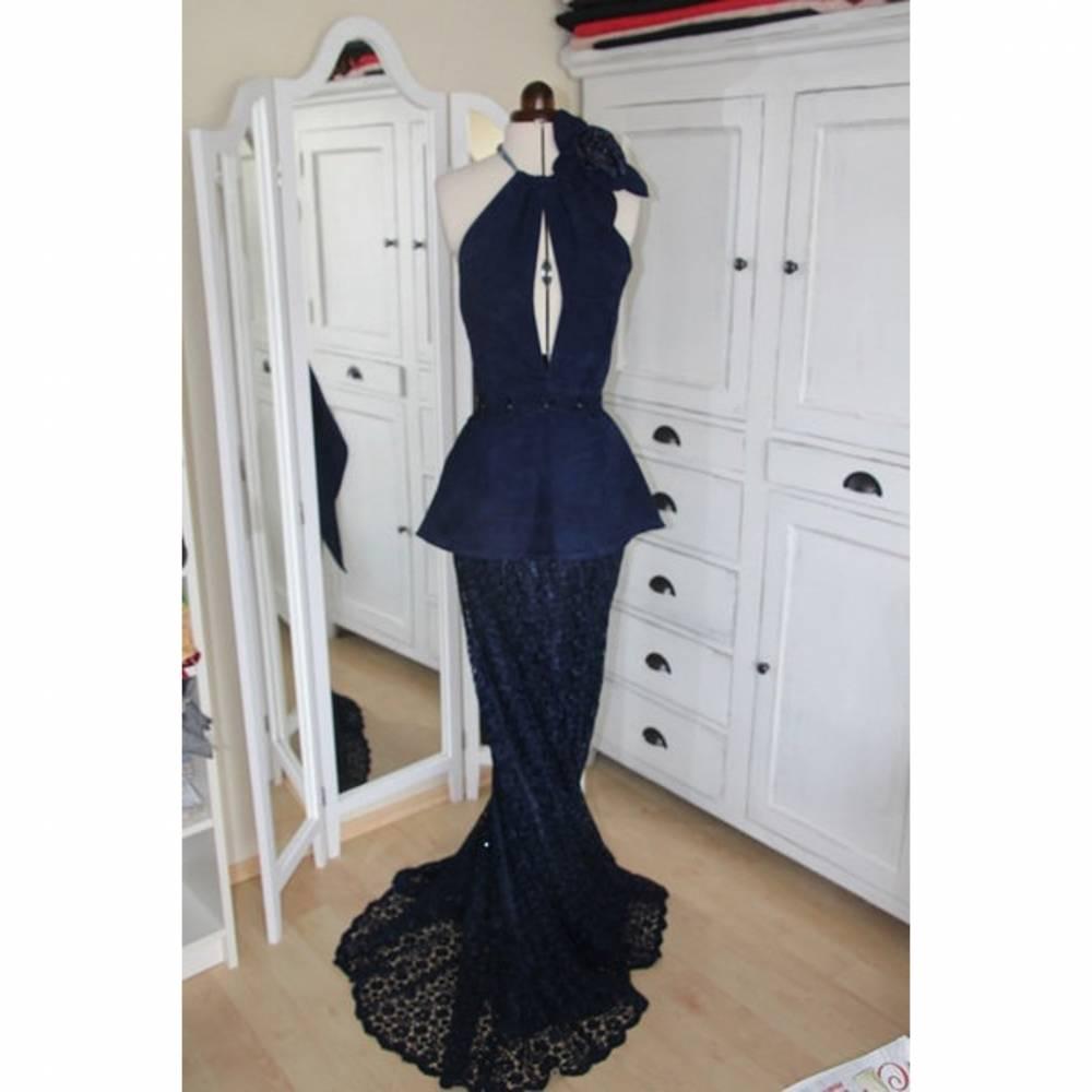 Abendkleid nachtblau Bild 1