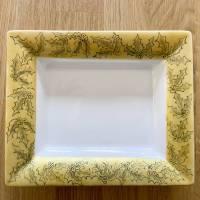 Weihnachtsteller Porzellan handbemalt mit Federzeichnung Bild 1