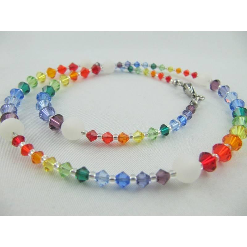 Kette Bunt Regenbogen Polaris Perlen (473) Bild 1