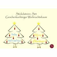 Stickdatei-Set Geschenkanhänger Weihnachtsbaum FREEBIE Bild 1