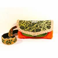 Muff mit Tasche, Weihnachtsgeschenk für Mädchen, Upcycling, Unikat Bild 1