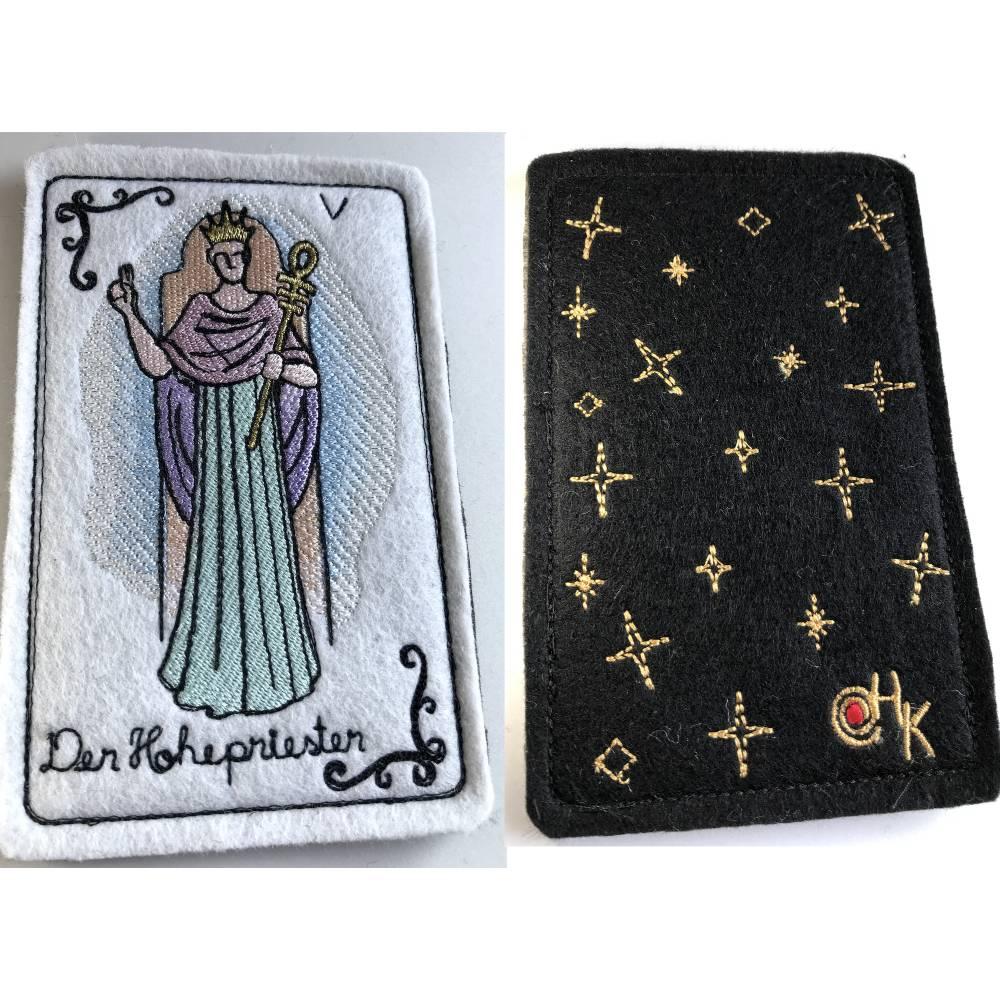Tarot-Karte 'Der Hohepriester'  /  'Der Hierophant' / 'Der Papst' aus dem Großen Arkana Bild 1
