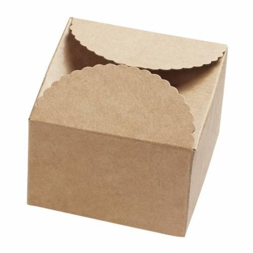 Papier-Box / Geschenkbox 70x70x50 mm - Natur