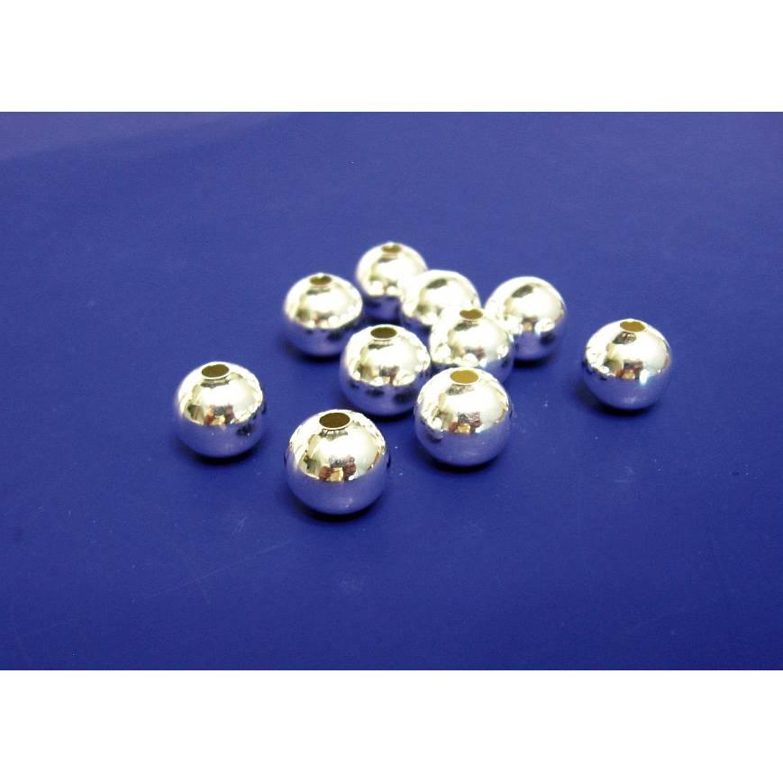 2 Stück Kugel 5 mm aus Silber 925, Zwischenteil, Schmuckperle Hochglanz Bild 1