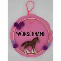Türschild Fohlen - Namensschild für Kinderzimmer - personalisierbar für Kinder Bild 1