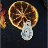 Silberanhänger mit eingeprägtem Oktopus, 999 Silber, mattiert mit Glitzereffekt Bild 5