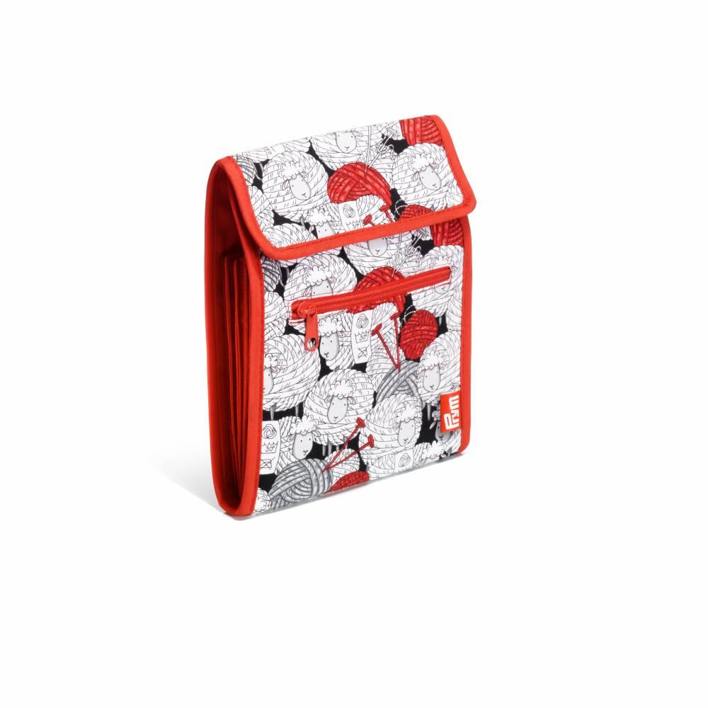 Prym 612038 Rundstricknadelmappe Nadeltasche Wolle Schaf rot/weiß Stricknadel Tasche Bild 1