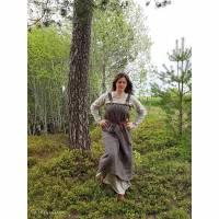 Wikinger Kleid Wolle, Fischgrat Schürzenkleid, Mittelalter Frau, LARP,  Cosplay Bild 1