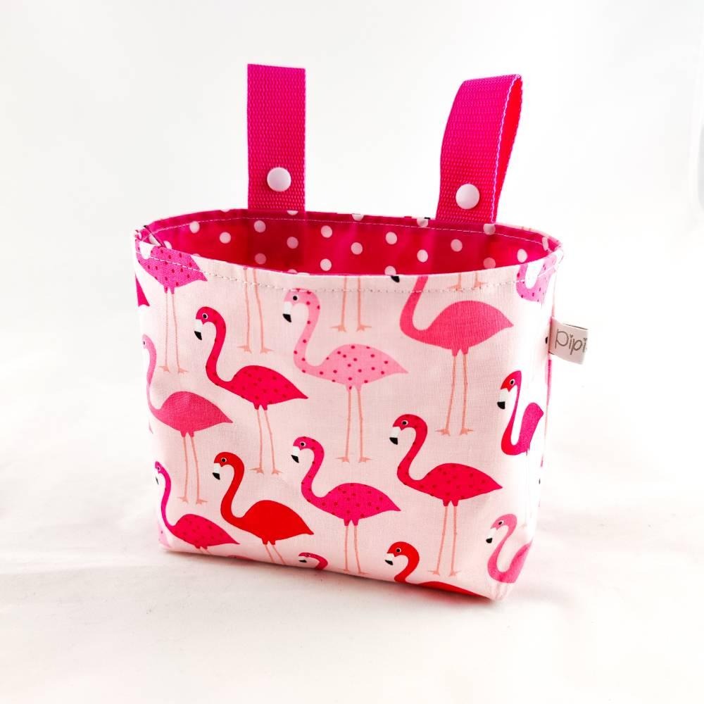 Lenkertasche Flamingos (innen Wachstuch) Bild 1