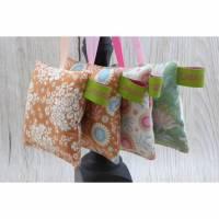 Kleine Lavendelkissen 4 St. Set, 8x8cm, Lavendelsäckchen, Lavendelduftkissen, Lavendelbeutelchen zum Aufhängen Bild 2