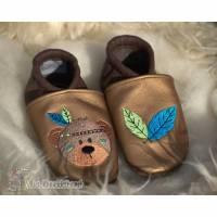 Lederpuschen Krabbelschuhe Babyschuhe Bild 1