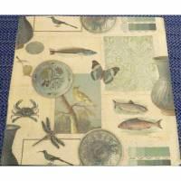 5 Servietten / Motivservietten  Fische  / Vögel / Schmetterling / Libelle  U 74 Bild 1