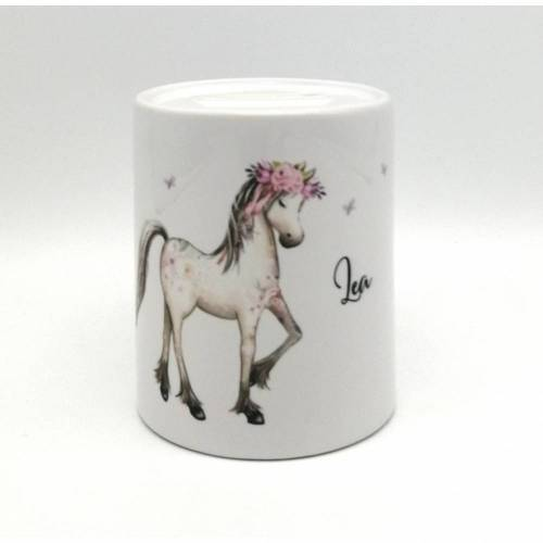 "Spardose ""Pferd"" personalisiert mit Namen"