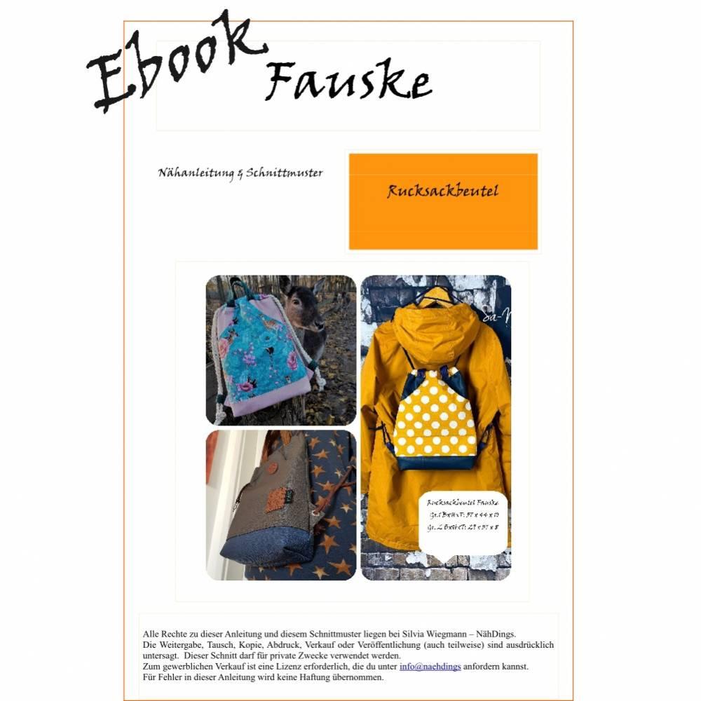 Ebook - digitale Nähanleitung & SM- Rucksackbeutel Fauske Bild 1