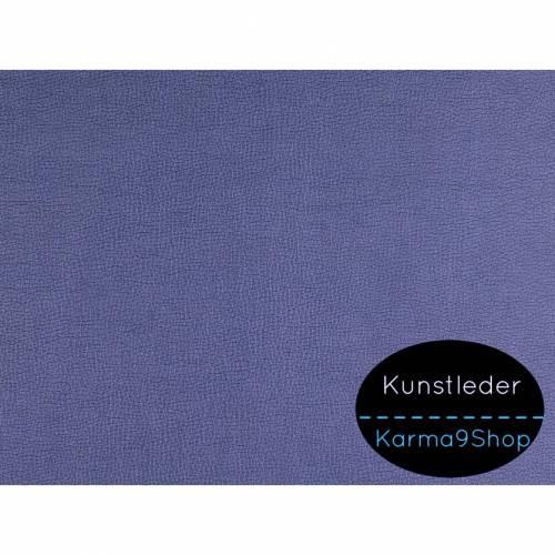 0,5m Kunstleder schimmernd nachtblau