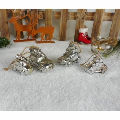 Weihnachtsdeko 4er Set Hänger, Auto, Weihnachten, Baumschmuck, Stk./ 2,95 €