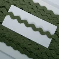 Zackenlitze 5mm, Olivgrün, Grün Bild 1