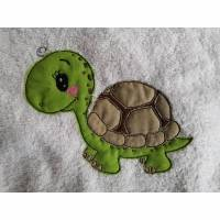 Stickdatei Süße Schildkröte Rahmen 10x10, Schildkröte Applikation, Schildkröte Doodle Bild 1
