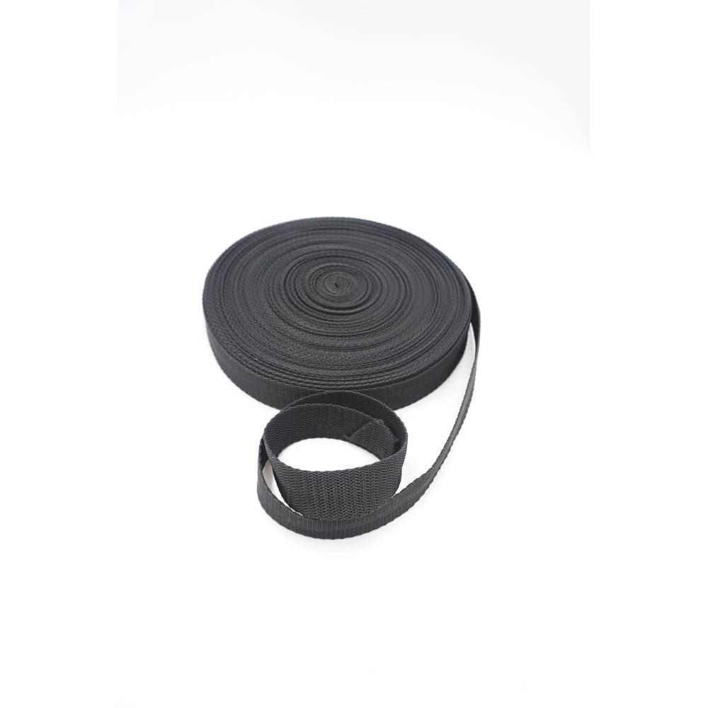 Gurtband - dunkelgrau - 25 mm Bild 1