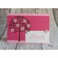 "Glückwunschkarte, Babykarte ""Baum"" Bild 1"