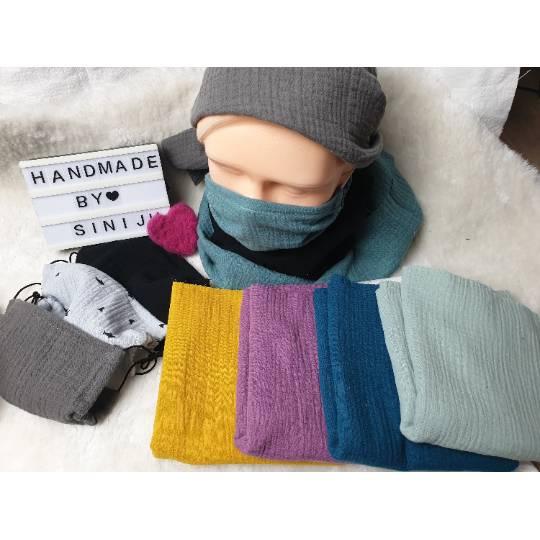 5er Pack Dünne Musselinmaske für Kinder , Jugendliche und Erwachsene , * Maske * uni 4 Farben vorhanden Bild 1