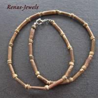 Holzkette braun Männerkette Herren Kette Holzperlen Kokosnuss Perlen Bild 1