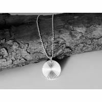 Silberkette mit Plättchen, minimalistische 925 Silber Kette, Plättchen Kette Silber, Layering Kette, Kette Sonne Bild 1
