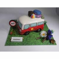 Geldgeschenk Geschenk Nostalgie Spardose Wohnmobil - Bus - Geschenkidee Bild 1