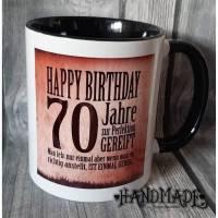Kaffeetasse Kaffeebecher 70. Geburtstag Spruch Bild 1