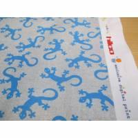 HILCO  Baumwoll-Jersey Sammy Shirt Gecko grau-türkis , Oeko-Tex® Standard 100(1m/15,-€)  Bild 1