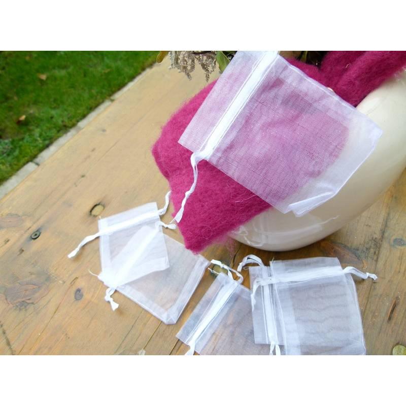 30 weiße Organzasäckchen 7x9 cm Geschenkbeutel * Geschenksäckchen * Schmucksäckchen * Geschenkverpackung Bild 1
