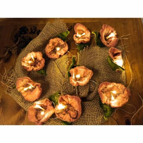 Filzblütenlichterkette, Blütenlichterkette, Filzblume, Lichterkette, Blume, Dekoration