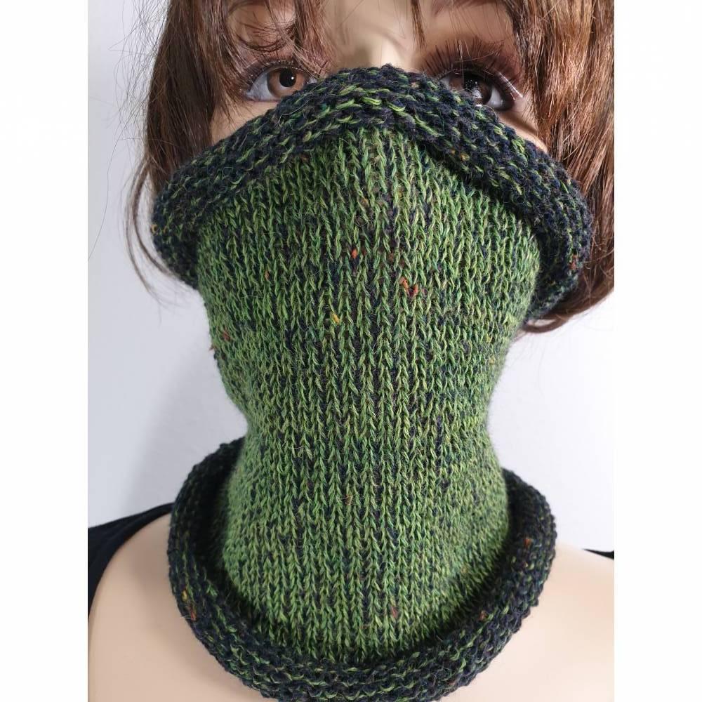 Schalkragen schwarz grün Bild 1