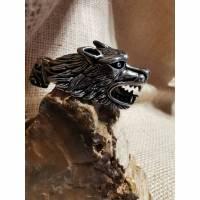 Wolfskopf - Kettenanhänger, Edelstahl (Edel22)  Bild 1