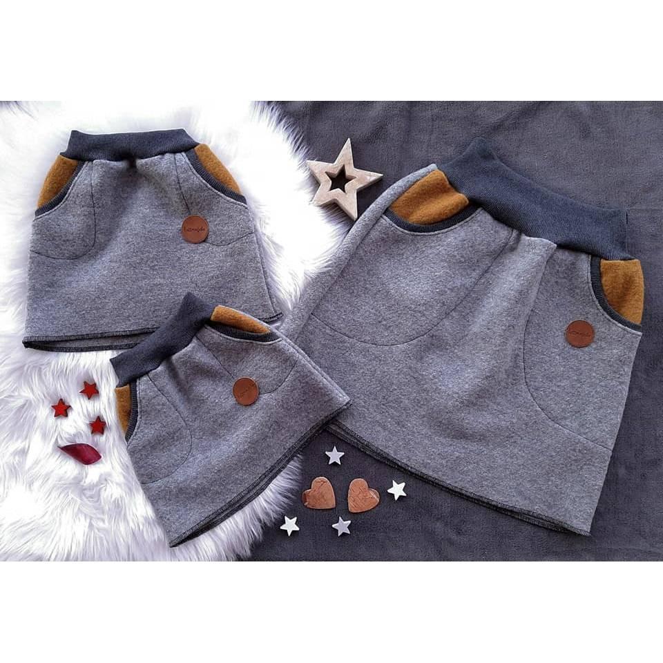 Walkrock Damen aus Kuschelwalk Gr. 34 - G. 52, Walkrock mit Taschen, Winterrock, 100% Wolle, Wollrock, nachhaltige Mode, Bild 1