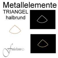 METALLELEMENTE   TRÄGERELEMENTE   TRIANGEL halbrund für Techniken mit Miyuki Perlen Bild 1