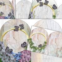DIY Grafik-Set Digitales Papier für Innenseiten (Signaturen) für Junk-Journals, Motiv *Butterfly 002*, von Alanja Bild 1