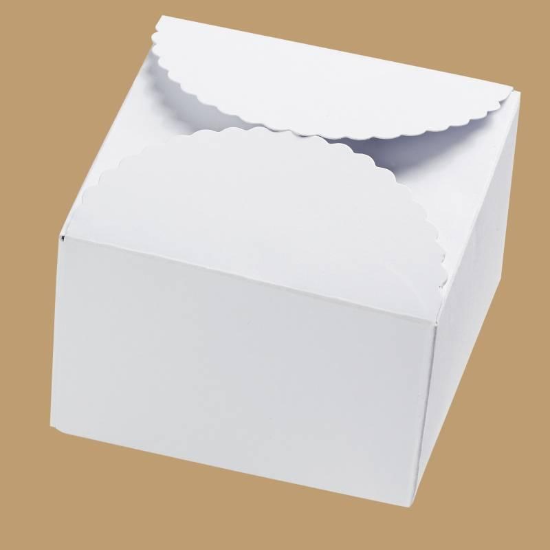 Papier-Box / Geschenkbox 90x90x50 mm - Weiß Bild 1