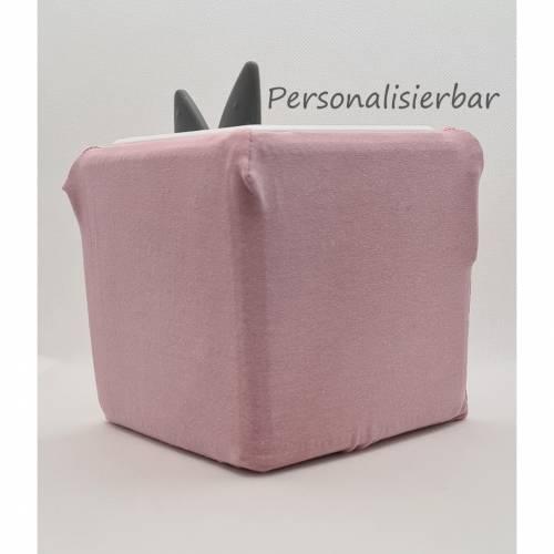 Toniebox Schutzhülle in Altrosa, mit Personalisierung, Schutzbezug Toniebox, Musikbox Bezug,Toniebox Bezug Pastel