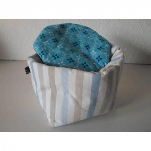 Eierkörbchen/ Eierwärmer *Striscio blu* Baumwolle mit Deckel nach Wahl