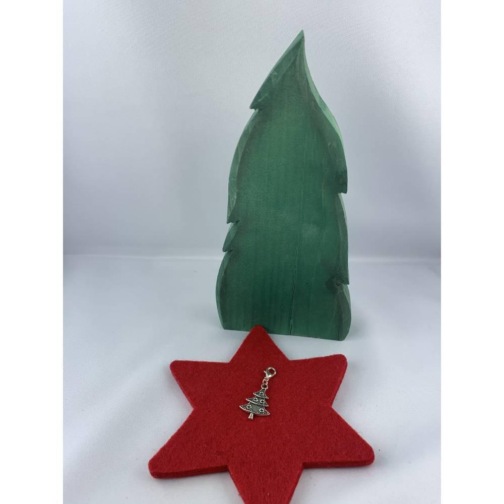 Weihachtsbäumchen * kleiner Tannenbaum * Weihnachtsanhänger * Weihnachtscharm * Charm * Anhänger * Geschenkanhänger * Ad Bild 1