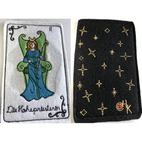 Tarot-Karte 'Die Hohepriesterin'  /  'The High Priestess' / 'The Priestess' aus dem Großen Arkan
