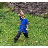 Leinen Ritter Tunika für Kinder, Mittelalter Kostüm, Wikinger Verkleidung, Weihnachten Bild 1