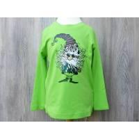 Grünes Langarmshirt für Kinder mit Wichtel bedruckt Bild 1