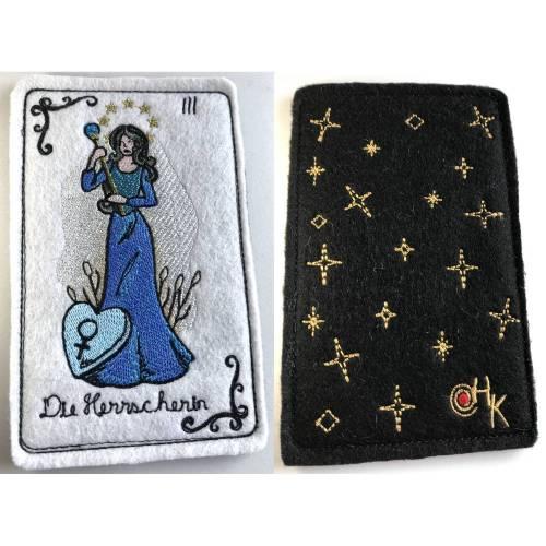 Tarot-Karte 'Die Herrscherin'  /  'The High Priestess' / 'The Empress' aus dem Großen Arkana